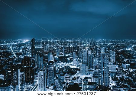 Aerial View Of Sathorn Bangkok