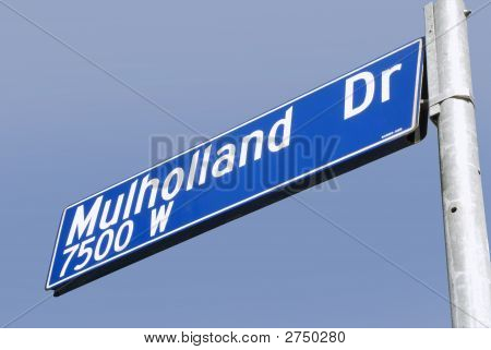 Mulholland Drive Street Sign 1