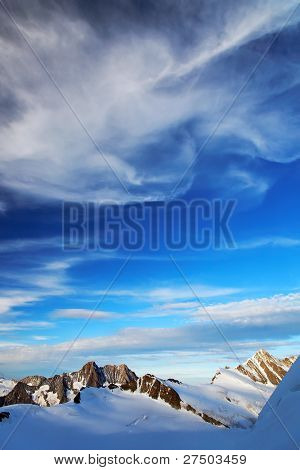 Mountain landscape in Berner Oberland, Switzerland - UNESCO Heritage