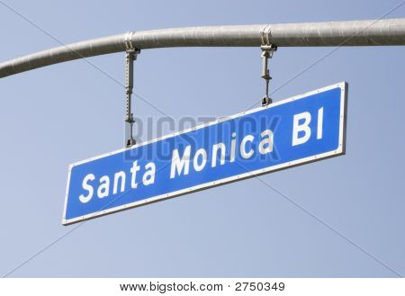 Santa Monica Blvd Street Sign