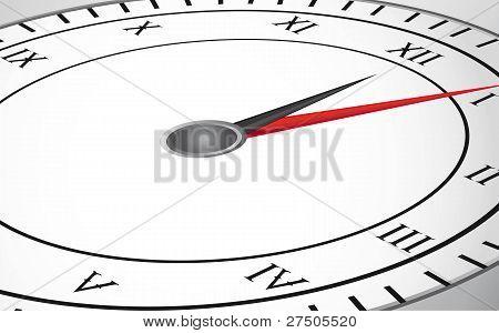 silver clock
