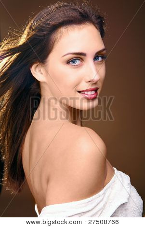 Beautiful Woman Fashion Portrait