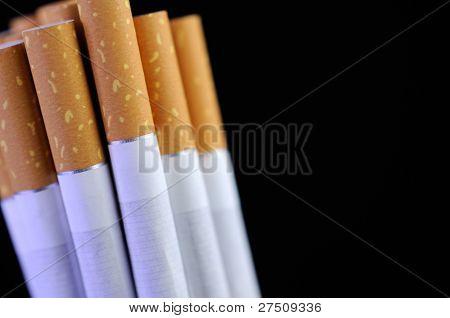 Cigarettes On Black Background