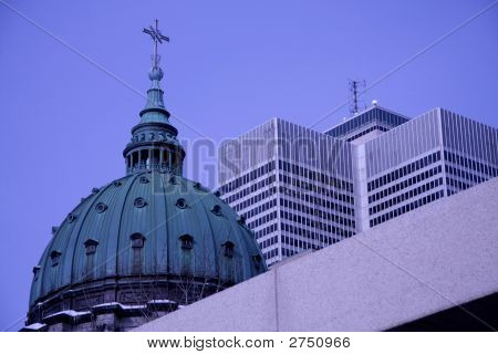 Church and Highrises