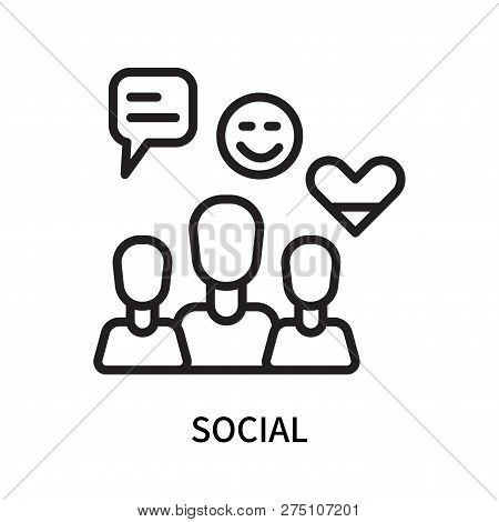 Social Icon Isolated On White