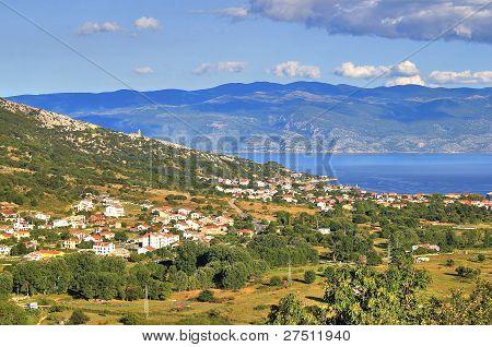 Baska Bay Mountain And Sea Landscape
