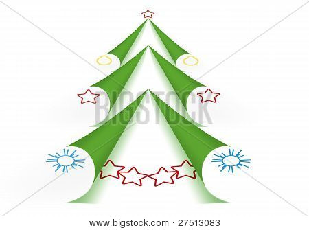 Green Christmas Tree Form