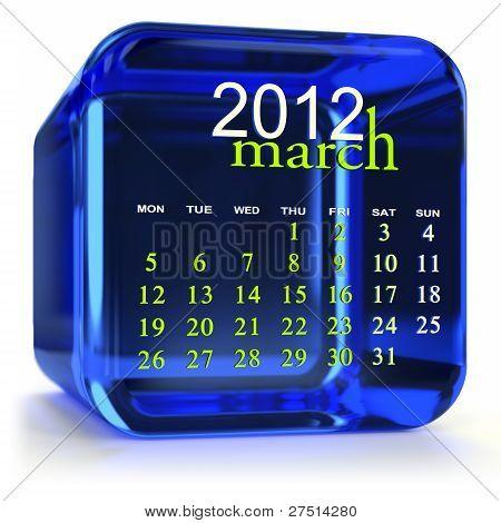 Calendario Marzo azul