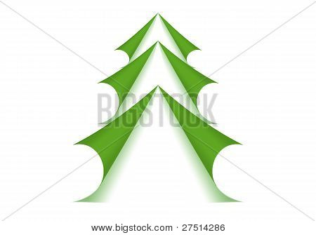 Green Christmas Tree Form