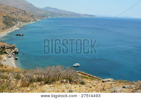 Preveli Beach And Lagoon