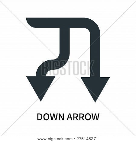 poster of Down Arrow Icon Isolated On White Background. Down Arrow Icon Simple Sign. Down Arrow Icon Trendy An
