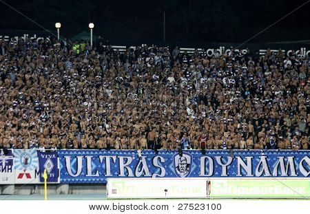 Fc Dynamo Kyiv Ultra Supporters Show Their Support