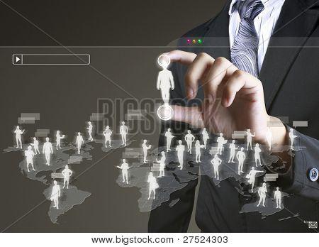 Soziales Netzwerk-Struktur