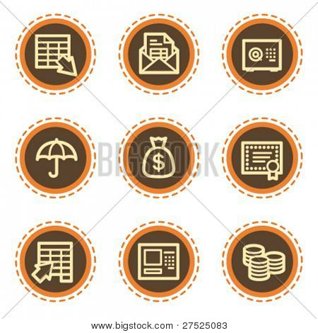 Banking web icons, vintage  buttons