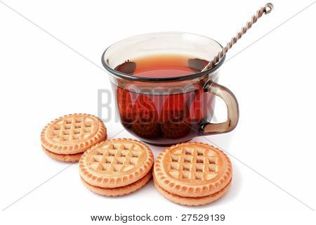 A Mug Of Tea And Biscuits