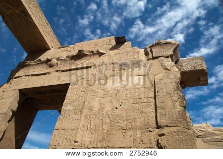 Wall Of The Ancient Egypt Temple