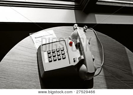 Instructions of hotel room phone service