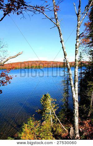 Beautiful lake Superior shore line in Michigan upper peninsula