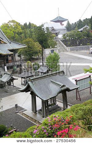 Historic Japanese temple at Narita airport Japan