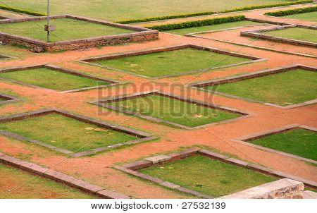 Design of ground in side historic Golkonda fort