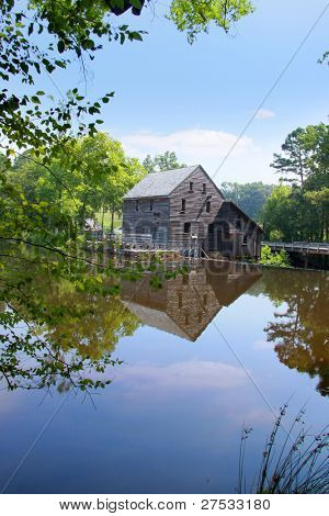 Historic Yates grist mill in North Carolina