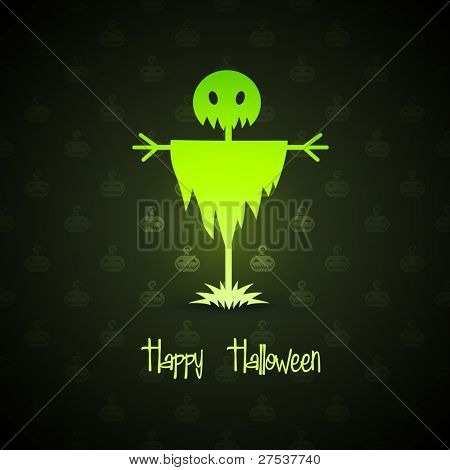 scarecrow for halloween on background vector illustration