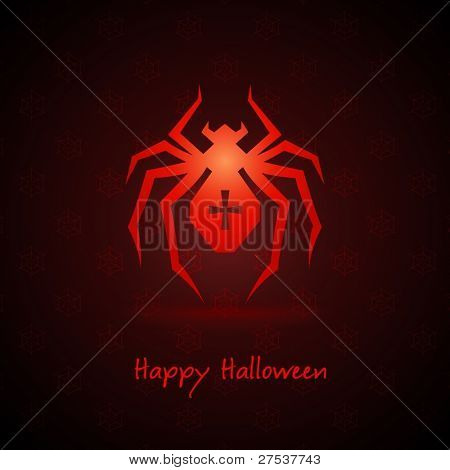 spider for halloween on background vector illustration