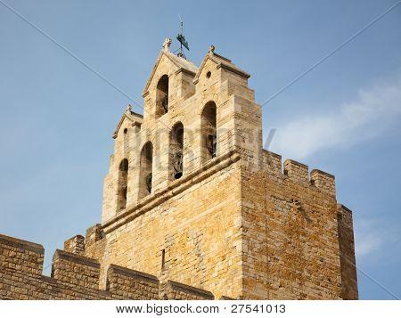 the belltower of the church at Saintes Maries de la Mer, Notre Dame de la Mer