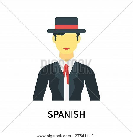 Spanish Icon Isolated On White
