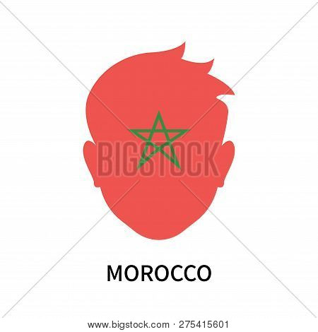 poster of Morocco Icon Isolated On White Background. Morocco Icon Simple Sign. Morocco Icon Trendy And Modern