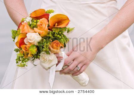 Novia y el ramo Floral