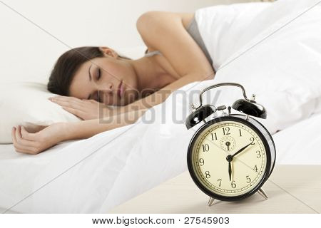 Beautiful young woman sleeping
