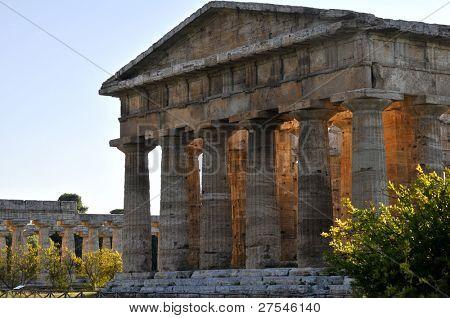 Paestum Temple, Campania, Italy