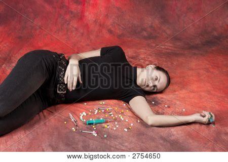 Suicide. Overdose Of Drugs.