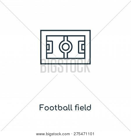 Football Field Icon In Trendy