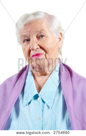Grandmother. Isolated.