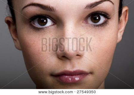 Close-up of a beautiful teenage girl