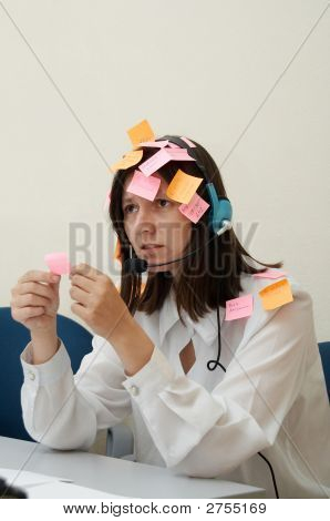 Busy Woman In Melancholy