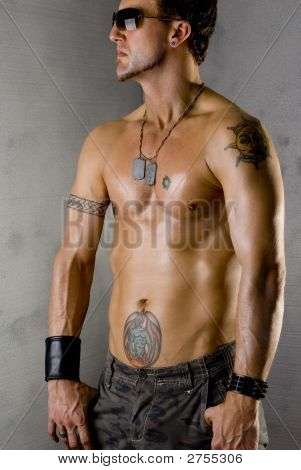 Muscular Tattooed Guy