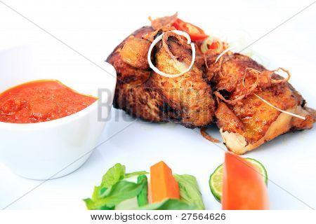 Javanese fried chicken named ayam kalasan