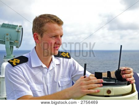 Navigation Officer Manages Devices