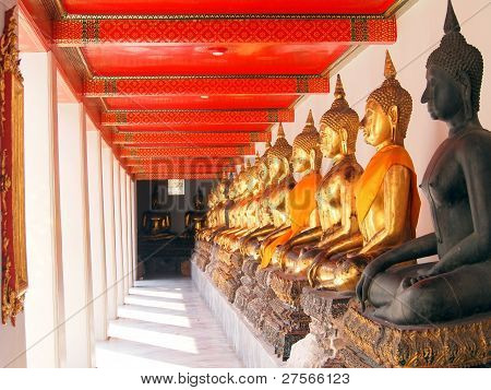 Buddha in corridor of light