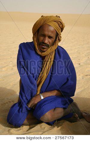 Berber Pathfinder in the Sahara Desert of Mali