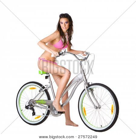 Beautiful Bikini girl on Bike