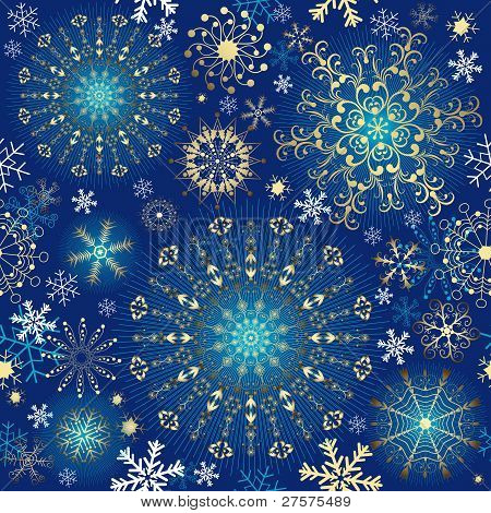 Christmas Blue Seamless Pattern