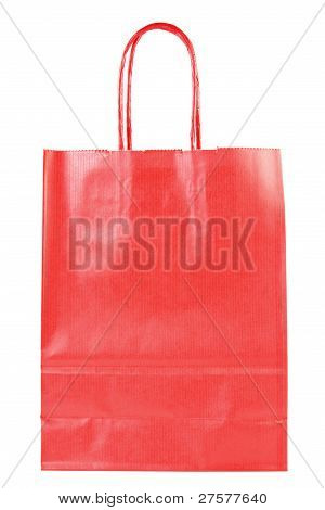 Red Shopping Paper Bag