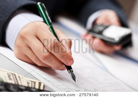 Businessman Working