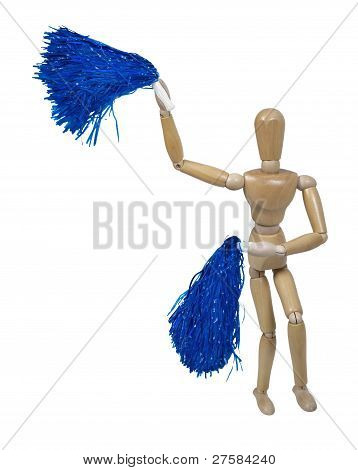 Cheerleader Waving Pom Poms