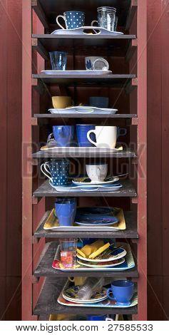 Cafeteria Tray Shelf