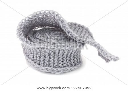 Knitted ribbon isolated